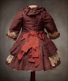 antique FRENCH BEBE ACCESSORIES | Antique French Silk DRESS for Jumeau Bru Steiner Eden Bebe doll 22-23 ...