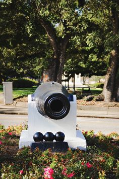 The cannon at the Loop is generally painted annually by the winner of the McGill/Murphy HighSchool football game!