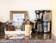 how to make a simple coffee station / Ninja Coffee Bar / addicted2diy.com