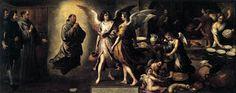 Murillo. Claustro de San Francisco el chico. 1645-46. La cocina de los ángeles - 180x450 - Museo del Louvre