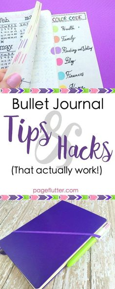 Bullet Journal Hacks That Actually Work | http://pageflutter.com | Easy productivity