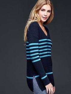Brooklyn stitch stripe pullover sweater | Gap