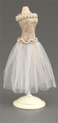 Miniature Decorated Dress Form