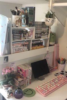 Teen Room Decor, Room Ideas Bedroom, Bedroom Inspo, My New Room, My Room, Otaku Room, Cute Room Ideas, Kawaii Room, Aesthetic Rooms