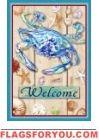 Blue Crab Welcome Garden Flag