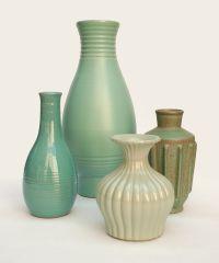 Swedish art deco ceramic vases by Ewald Dahlskog and Bo Fajans, 1940s
