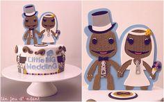 Sweet Table Little Big Wedding - Little Big Planet Cake - Gâteau Sackboy - Flat design - Un Jeu d'Enfant Cake Design Nantes