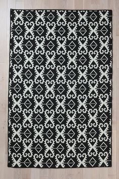 Flat Weave Ikat Rug  #UrbanOutfitters