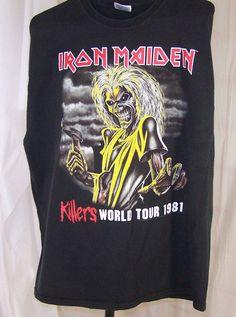 ed34d668ddda Iron Maiden Vintage Killers Rock Tour 1981 XL 46-48 T-Shirt Heavy Metal