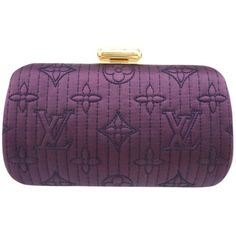 Pre-owned Louis Vuitton Silk Satin Clutch ($2,299) ❤ liked on Polyvore featuring bags, handbags, clutches, none, preowned handbags, purple purse, purple handbags, pre owned handbags and louis vuitton purses