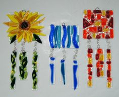fused glass wind chimes - Google Search