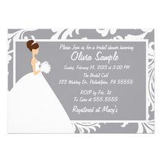 Bridal Shower Invitation Floral.  $2.05