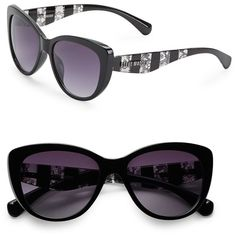 Steve Madden 57mm Cats-Eye Sunglasses ($40) ❤ liked on Polyvore featuring accessories, eyewear, sunglasses, uv protection sunglasses, lens glasses, steve madden sunglasses, cat eye glasses and steve madden glasses