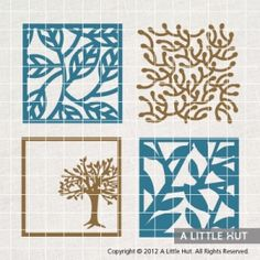 Trees - square from A Little Hut