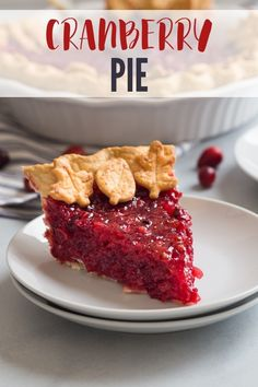 A simple cranberry pie will make an excellent addition to your Thanksgiving table! This simple cranberry pie will make an excellent addition to your Thanksgiving table! This recipe calls for fresh cranberries but frozen can also be used. Coconut Recipes, Pie Recipes, Snack Recipes, Dessert Recipes, Fruit Recipes, Dessert Ideas, Yummy Recipes, Baking Recipes, Recipes
