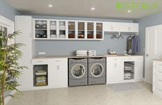 A dream Laundry Room is not large Laundry Room, but clean and tidy Laundry Room. To make your room into a dream Laundry Room, we provide garage laundry room ide… Garage Laundry Rooms, Laundry Room Shelves, Laundry Room Cabinets, Small Laundry Rooms, Laundry Closet, Laundry Storage, Laundry Room Organization, Laundry Room Design, Laundry Organizer