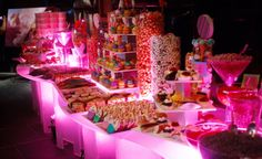 Colourful 'Candy Land' buffet table. #candy #buffet