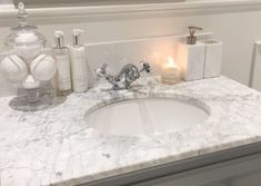 Bathroom – Evening Sink and Candle - Modern Decorating Small Spaces, Decorating Tips, Bathroom Renos, Bathroom Ideas, Cottage Renovation, Downstairs Toilet, Upstairs Bathrooms, Simple Bathroom, Bathroom Interior Design