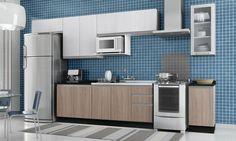 Cozinha Modulada Completa 8 Módulos Melissa Branco/Lari/Naka - Fiasini