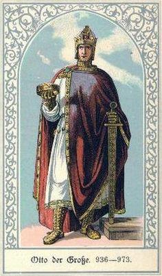 9. Retrato de Oto I, Imperador do Sacro Império Romano-Germânico.