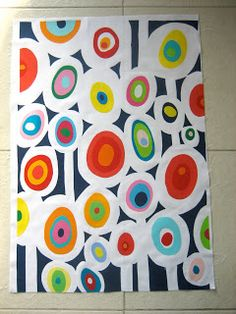A how-to for making circles just like in this awesome quilt.