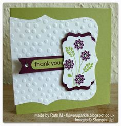Flower Sparkle: Embellished Events Flower Spray SU! Thank You Cards