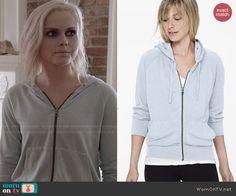 Liv's light blue hoodie on iZombie.  Outfit Details: http://wornontv.net/47230/ #iZombie