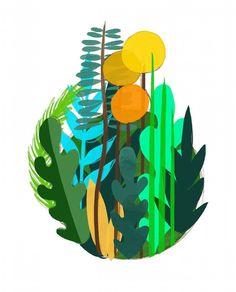 Siempre hago bocetos antes de hacer las piezas en madera... Al trabajar por capas evito partir desde cero y gastar material tontamente que soy muy de eso. . . I always make some sketches before working on real wood pieces so I can avoid wasting so much material... . . #lafabrica #notonlytoys #nosolojuguetes #sketching #ipadpro #procreate #botanical #illustration #illustratingwithwood #ilustracionenmadera #ilustracion #vegetal #plantas #flora