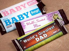 Candy Bar Wrappers. Click on link for free templates. http://www.hersheys.com/pure-crafts/details.aspx?id=227