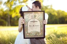 Quaker Wedding Certificate - signed by all the guests