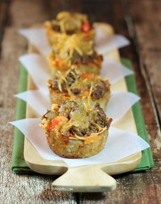Cheeseburger Hash Brown Cups - Emily Bites