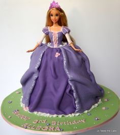 Disney Themed Cakes - Rapunzel Doll cake