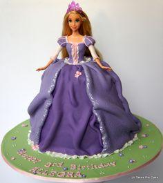 Disney Themed Cakes - Rapunzel Doll cake