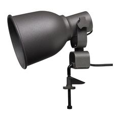 HEKTAR Wall/clamp spotlight from IKEA.  $14.99  Product description  Mounting bracket/ Bracket/ Shade: Steel, Epoxy powder coating  Knob: Aluminum, Epoxy powder coating  Arm: Steel, Galvanized