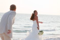 A romantic beach wedding photo from Studio Eleven One