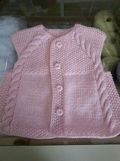 Knitting For Kids, Baby Knitting Patterns, Sewing For Kids, Knitting Designs, Fashion 2020, Kids Fashion, Baby Bikini, Knitted Baby Clothes, Knit Vest