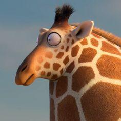 Big round giraffes 🦒 get thirsty too. Kyra and Constantin's @rollin.wild.official. #cg #animation #design #cgi #3d #giraffe #animal #funny…