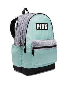 Victoria's Secret Pink Campus Backpack Sheer Seafoam Horizon 2017 for sale online Victoria Secret Rucksack, Mochila Victoria Secret, Victoria Secret Pink, Cute Backpacks For School, Girl Backpacks, Backpacks From Pink, Pink Brand Backpack, Backpack Bags, Fashion Backpack