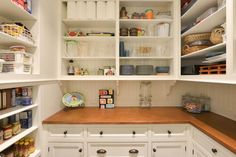 HGTV has inspirational pictures, ideas and expert tips on kitchen pantry shelving that will help you create a more organized storage space. Tiny Pantry, Open Pantry, Built In Pantry, Style Pantry, Maple Cabinets, Black Cabinets, Built In Cabinets, Custom Cabinets, Kitchen Cabinets