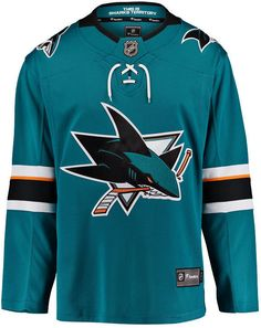 26a638416 Fanatics Men s San Jose Sharks Breakaway Jersey - Blue L