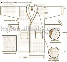 pinterest bata de baño mujer - Buscar con Google Sewing Tutorials, Sewing Patterns, Suit Fabric, Pocket Detail, Diy Clothes, Diy And Crafts, Weaving, How To Make, Google