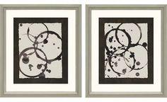 Astro Burst Framed Wall Art II - Set of 2
