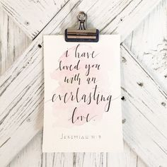 I Have Love You With An Everlasting Love  by AmandaHarrisonDesign