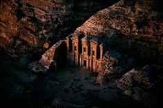 Templo de Ed-Deir, Petra, región de Ma'an, Jordania.