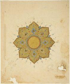 Iran, Shamsa Medallion, 16th/17th century  via crashinglybeautiful: marsiouxpial