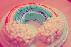 Rainbow Chamallow Cake