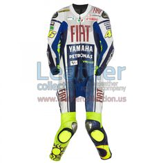 Valentino Rossi Yamaha Fiat MotoGP 2010 Race Suit - https://www.leathercollection.us/en-we/valentino-rossi-motogp-2010-race-suit.html Valentino Rossi, Valentino Rossi race suit #ValentinoRossi, #ValentinoRossiRaceSuit