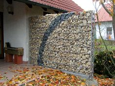 ❧ gabion rock walls