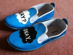 Handpainted 'The Fault In Our Stars' Shoes by FandomFootsteps, £20.00