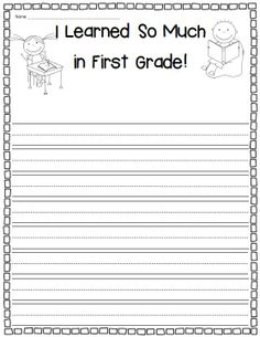 Farewell, First Grade! Writing reflections, memory book activities, and more! $